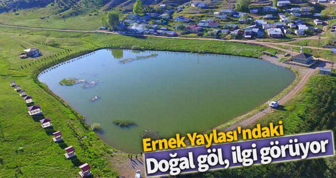 Ernek Yaylası'ndaki doğal göl, ilgi görüyor