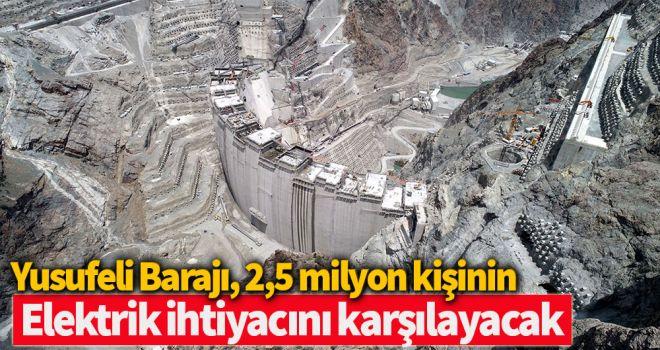Yusufeli Barajı, 2,5 milyon kişinin elektrik ihtiyacını karşılayacak