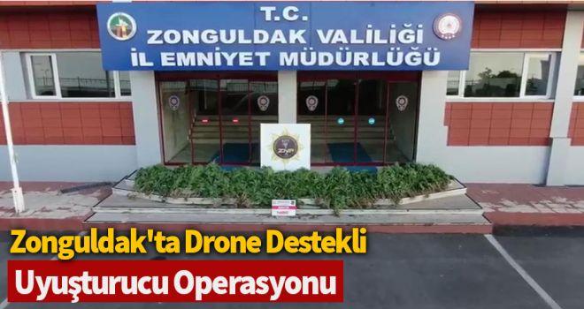 Zonguldak'ta drone destekli uyuşturucu operasyonu: 1 tutuklama