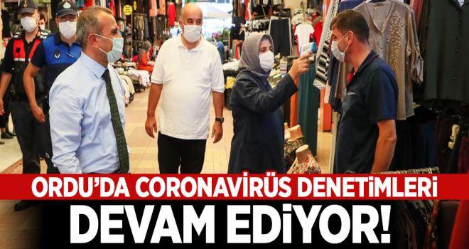 Ordu'da Koronavirüs Denetimleri Devam Ediyor
