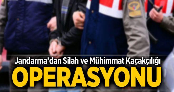 Jandarma'dan 'Silah ve Mühimmat Kaçakçılığı' Operasyonu