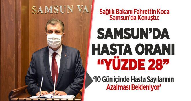 Samsun'da Hasta Sayısı 'Yüzde 28'