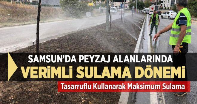 SAMSUN'DA PEYZAJ ALANLARINDA VERİMLİ SULAMA DÖNEMİ