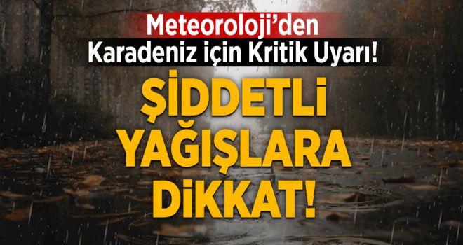 Doğu Karadeniz'de Beklenen Şiddetli Yağışlara Dikkat!