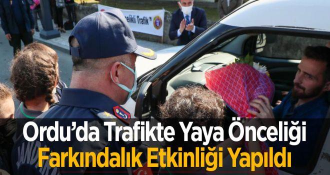 Ordu'da Trafikte Yaya Önceliği Farkındalık Etkinliği Yapıldı