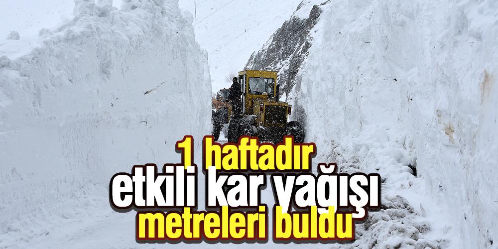 Gümüşhane'de yoğun kar mesaisi