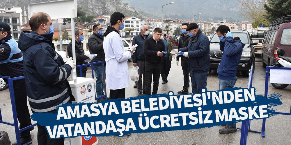 Amasya Belediyesi'nden vatandaşa ücretsiz maske