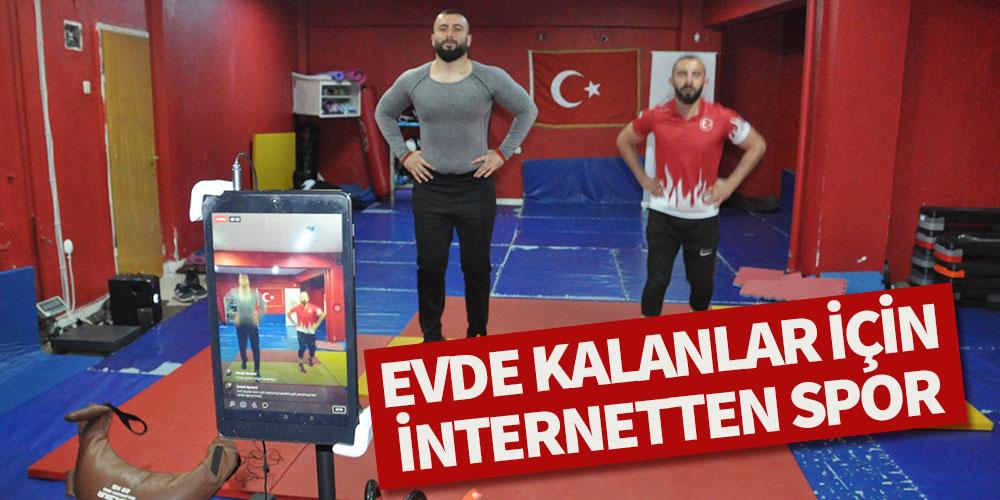 Evde kalanlar için internetten spor!