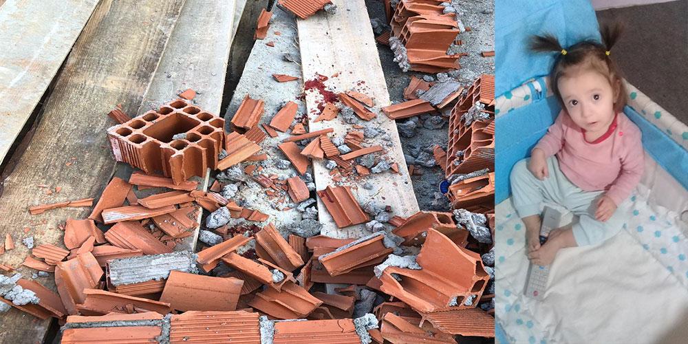 Çöken duvarın altında kalan 3 yaşındaki Damla öldü