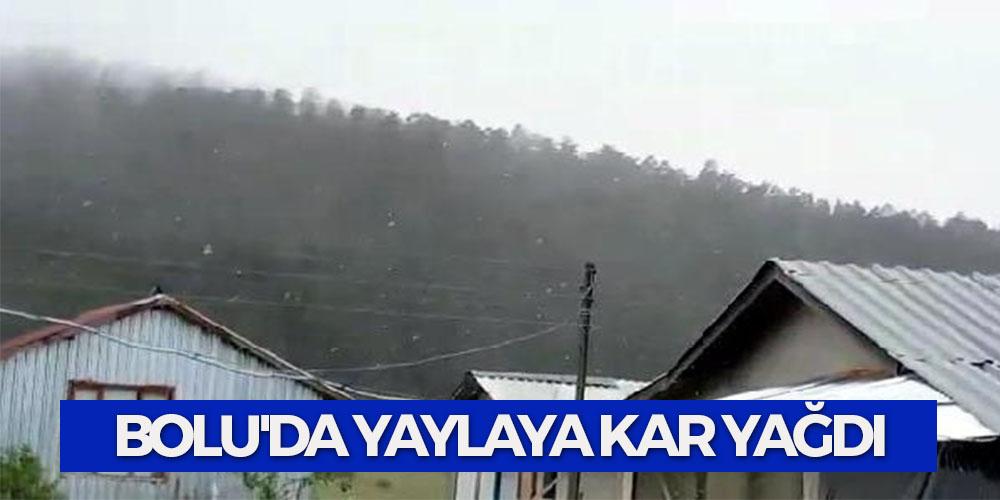 Bolu'da Yaylaya Kar Yağdı