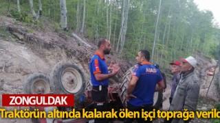 Traktörün altında kalarak ölen işçi toprağa verildi