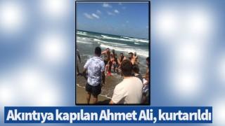 Akıntıya kapılan Ahmet Ali, kurtarıldı