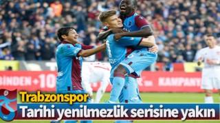 Trabzonspor, tarihi yenilmezlik serisine yakın