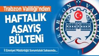Trabzon Valiliğinden Haftalık Asayiş Bülteni