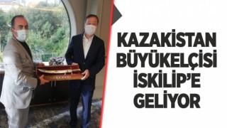 KAZAKİSTAN ANKARA BÜYÜKELÇİSİ ABZAL SAPARBEKULY İSKİLİP'E GELİYOR