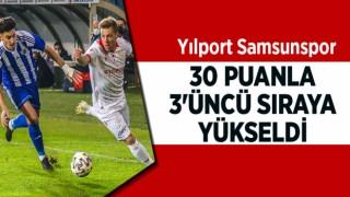 YILPORT SAMSUNSPOR ,30 PUANLA 3'ÜNCÜ SIRAYA YÜKSELDİ