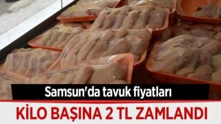 SAMSUN'DA TAVUK FİYATLARINA ZAM