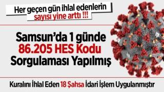 SAMSUN'DA KURALLARI İHLAL EDENLERİN SAYISI YİNE ARTTI