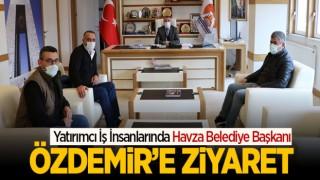 Yatırımcı İş İnsanlarında Havza Belediye Başkanı Özdemir'e Ziyaret