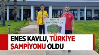 ENES KAVLU, TÜRKİYE ŞAMPİYONU OLDU