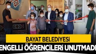 Bayat Belediyesi, Engelli Öğrencileri Unutmadı.