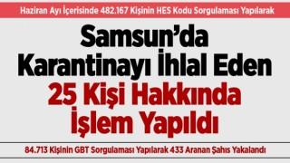 SAMSUN'DAN BİR AYLIK ASAYİŞ RAPORU
