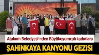 Atakum Beledyesi'nden Büyükoyumcalı kadınlara Şahinkaya Kanyonu gezisi