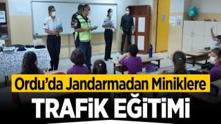 JANDARMA'DAN MİNİK ÖĞRENCİLERE TRAFİK EĞİTİMİ