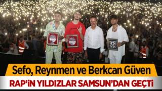 Rapin yıldızları Samsun'dan geçti