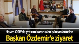 Havza OSB'de yatırım kararı alan iş insanlarından Başkan Özdemir'e ziyaret