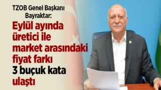 """TZOB Genel Başkanı Bayraktar:""""Eylül ayında üretici ile market arasındaki fiyat farkı 3 buçuk kata ulaştı"""""""