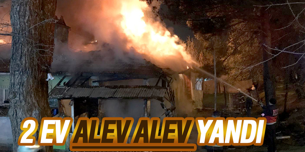 2 ev alev alev yandı