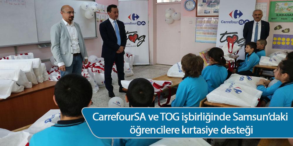 CarrefourSA ve TOG işbirliğinde Samsun'daki öğrencilere kırtasiye desteği