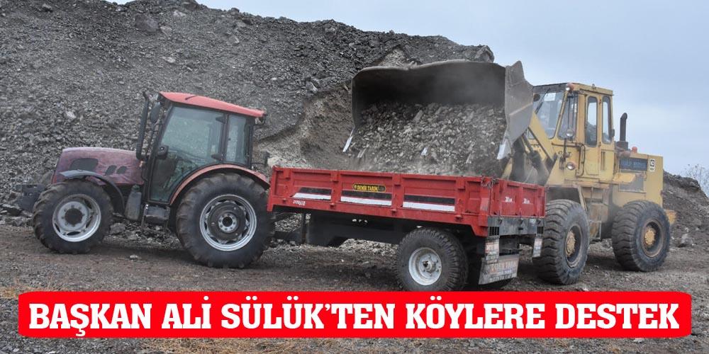 BAŞKAN ALİ SÜLÜK'TEN KÖYLERE DESTEK