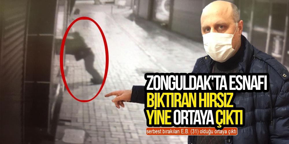 Zonguldak'ta esnafı bıktıran hırsız, yine ortaya çıktı