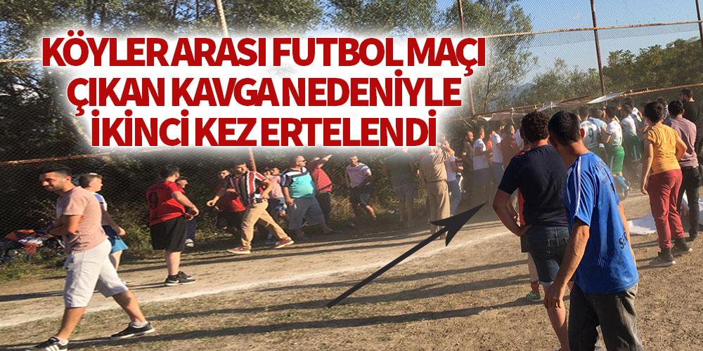 Köyler arası futbol turnuvası çıkan kavga nedeniyle ikinci kez ertelendi!