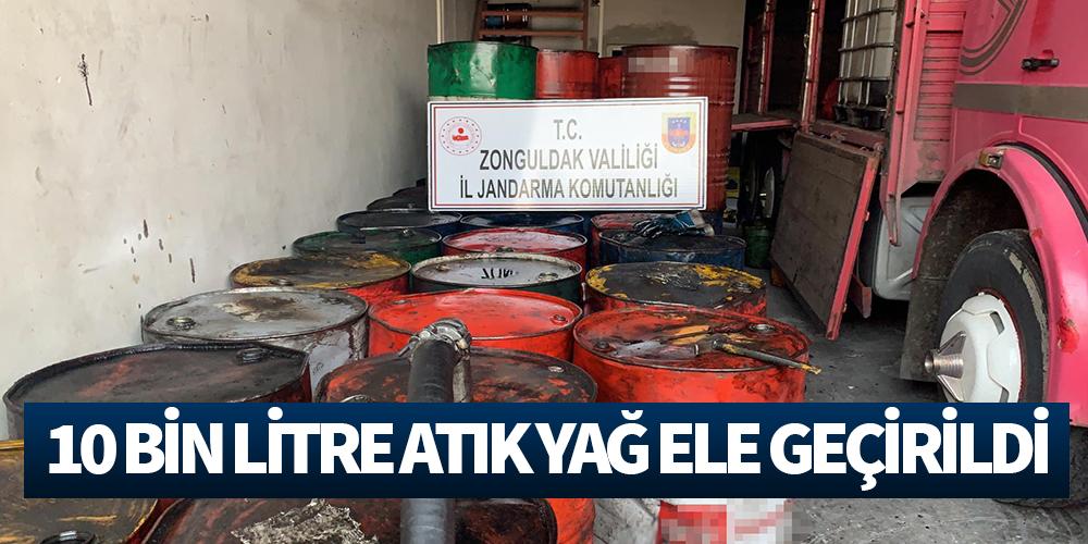 Kaçak mazot yapımında kullanılan 10 bin litre 'atık yağ' ele geçirildi