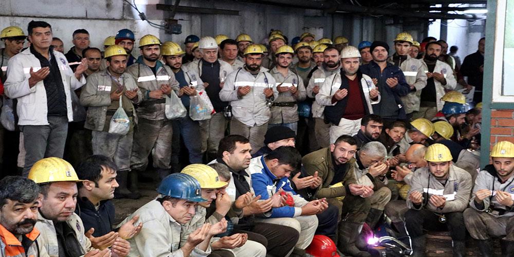 Maden işçisi Mehmetçik için dua etti, kurban kesti